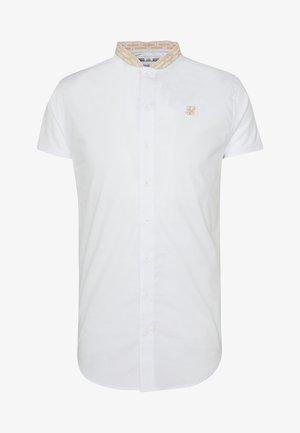 TAPE COLLAR - Koszula - white/gold
