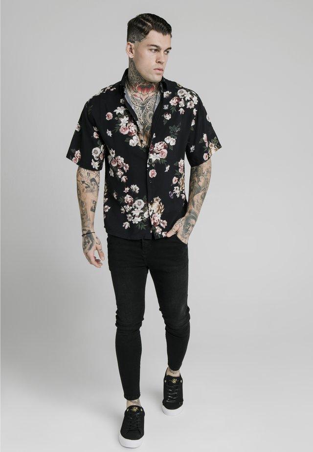 PRESTIGE FLORAL RESORT - Hemd - black