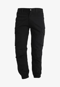 SIKSILK - FITTED CUFF PANTS - Cargobyxor - black - 3