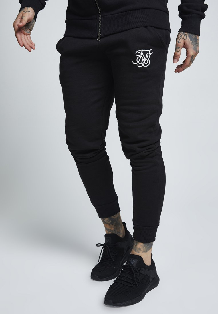 SIKSILK - MUSCLE FIT - Verryttelyhousut - black