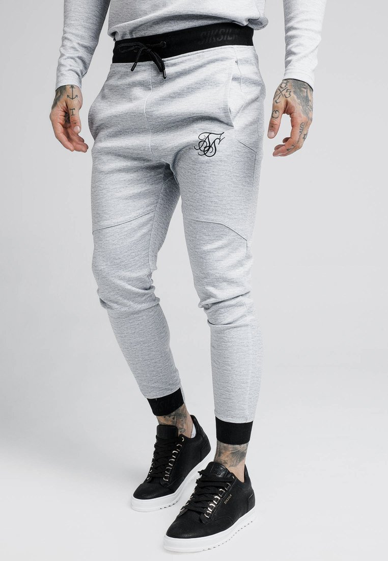 SIKSILK - AGILITY PRINTED PANTS - Jogginghose - grey marl