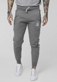 SIKSILK - Pantalon de survêtement - grey marl/snow marl - 0