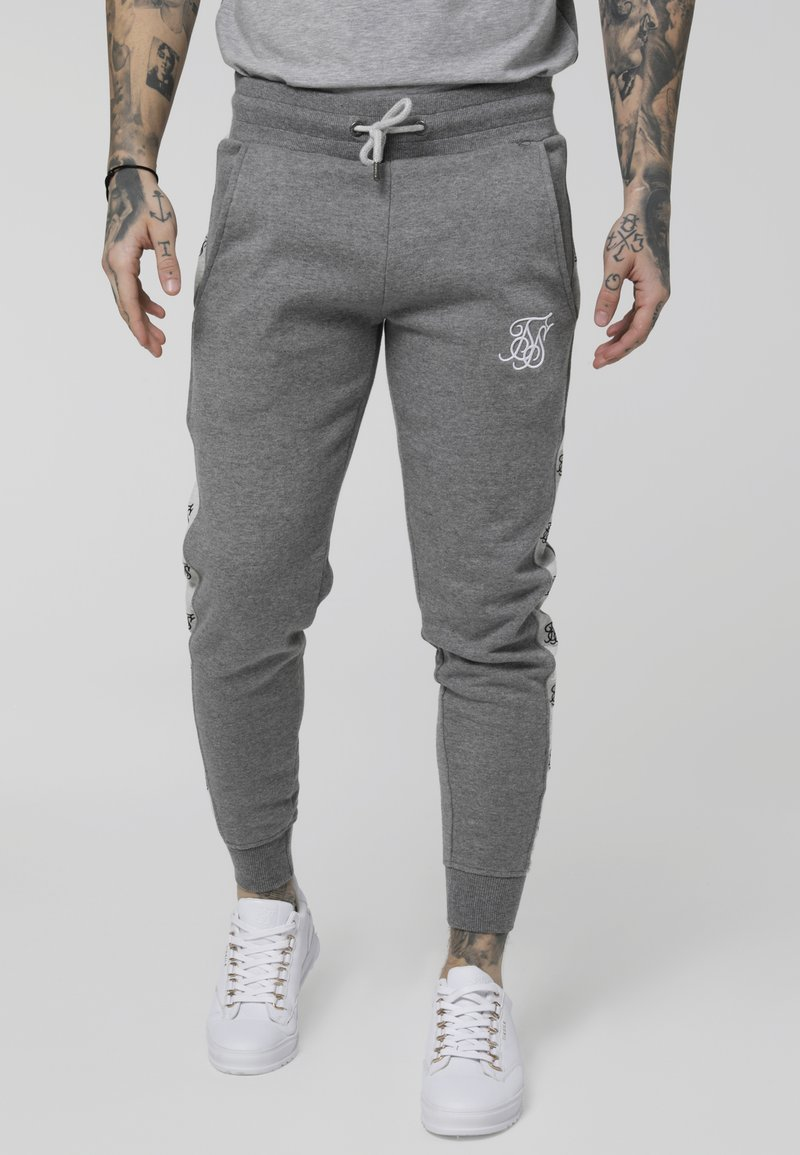 SIKSILK - MUSCLE FIT JOGGER - Tracksuit bottoms - grey marl/snow marl
