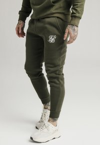 SIKSILK - MUSCLE FIT - Jogginghose - khaki/white - 4