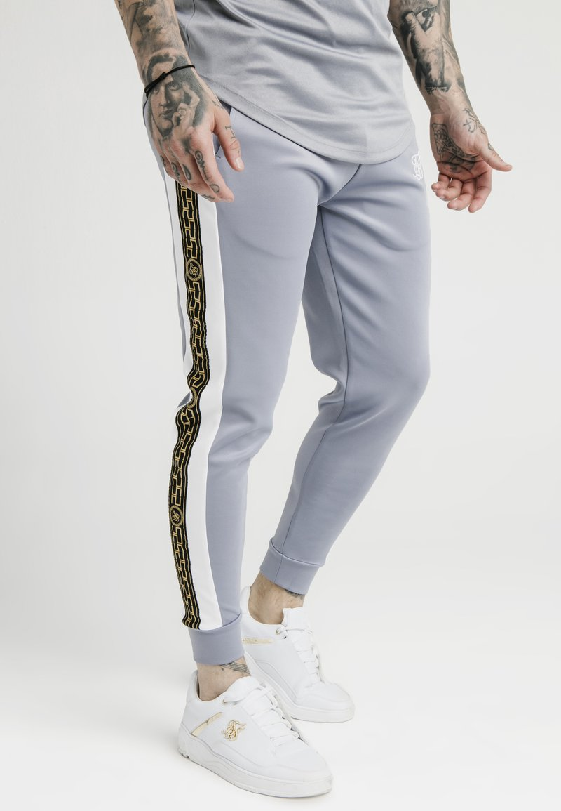 SIKSILK - PANELLED RACER CUFFED JOGGERS - Trainingsbroek - grey