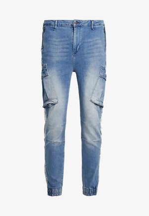 PANTS - Reisitaskuhousut - light blue denim