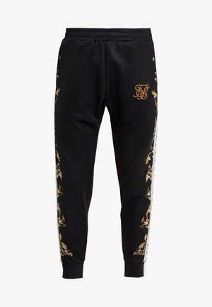 CUFFED PANTS - Pantaloni sportivi - black/white/gold