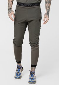SIKSILK - EVOLUTION TRACK PANTS - Verryttelyhousut - khaki - 0