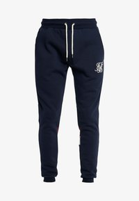 SIKSILK - RETRO PANEL TAPE - Tracksuit bottoms - navy/red/off white - 3