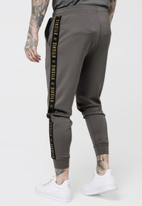 SIKSILK - CUFFED CROPPED TAPED  - Tracksuit bottoms - cement - 2