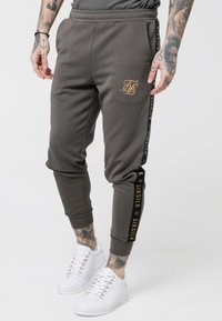 SIKSILK - CUFFED CROPPED TAPED  - Tracksuit bottoms - cement - 0