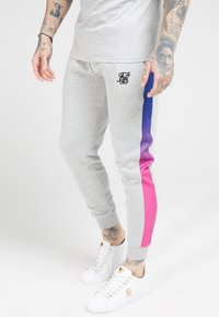 SIKSILK - MUSCLE FIT FADE PANEL - Pantalon de survêtement - grey marl/neon - 4