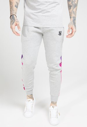 MUSCLE FIT FADE PANEL - Joggebukse - grey marl/neon