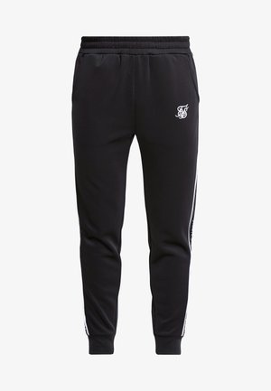 FITTED PANEL TAPE TRACK PANTS - Trainingsbroek - black