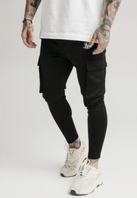 SIKSILK - ATHLETE CARGO PANTS - Cargobyxor - black - 0