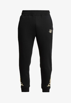 FITTED  - Spodnie treningowe - jet black/gold