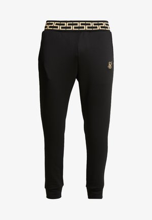 FITTED CUFFED CHAIN PANT - Träningsbyxor - black/gold