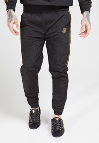 SIKSILK - CRUSHED TAPE  - Pantaloni sportivi - black / gold - 0