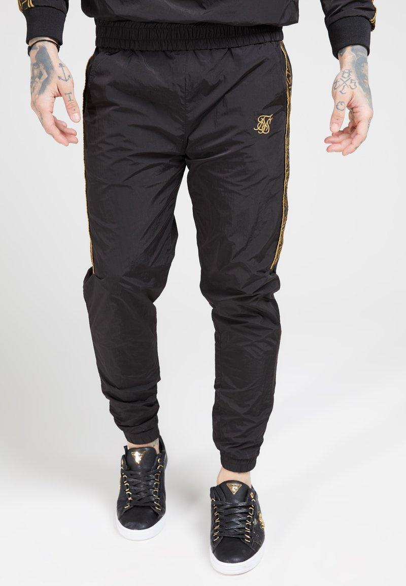 SIKSILK - CRUSHED TAPE  - Pantaloni sportivi - black / gold