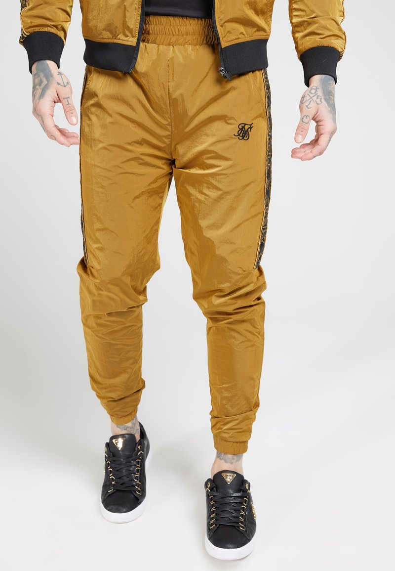 SIKSILK - TAPED JOGGERS - Pantaloni sportivi - golden mustard