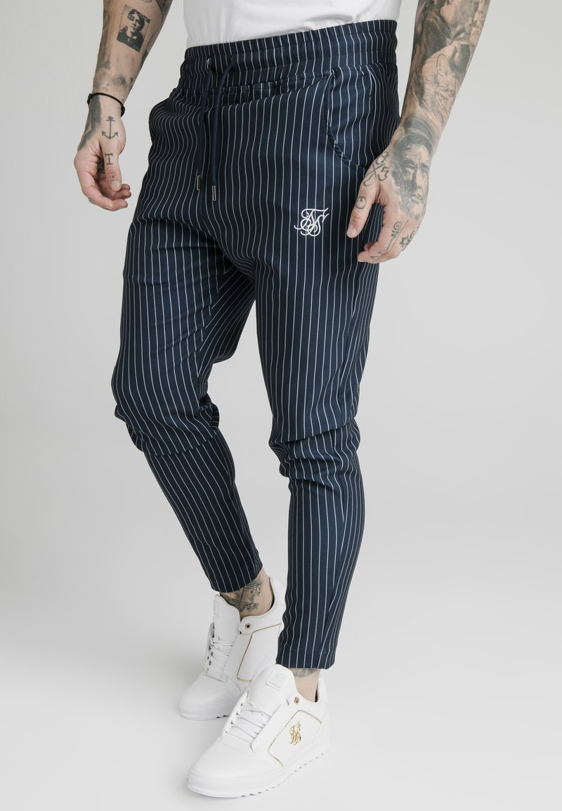 SIKSILK - SMART JOGGER PANT - Broek - navy/grey