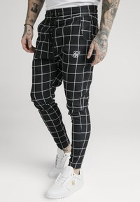 SIKSILK - SMART JOGGER PANT - Pantalon classique - black/white - 4