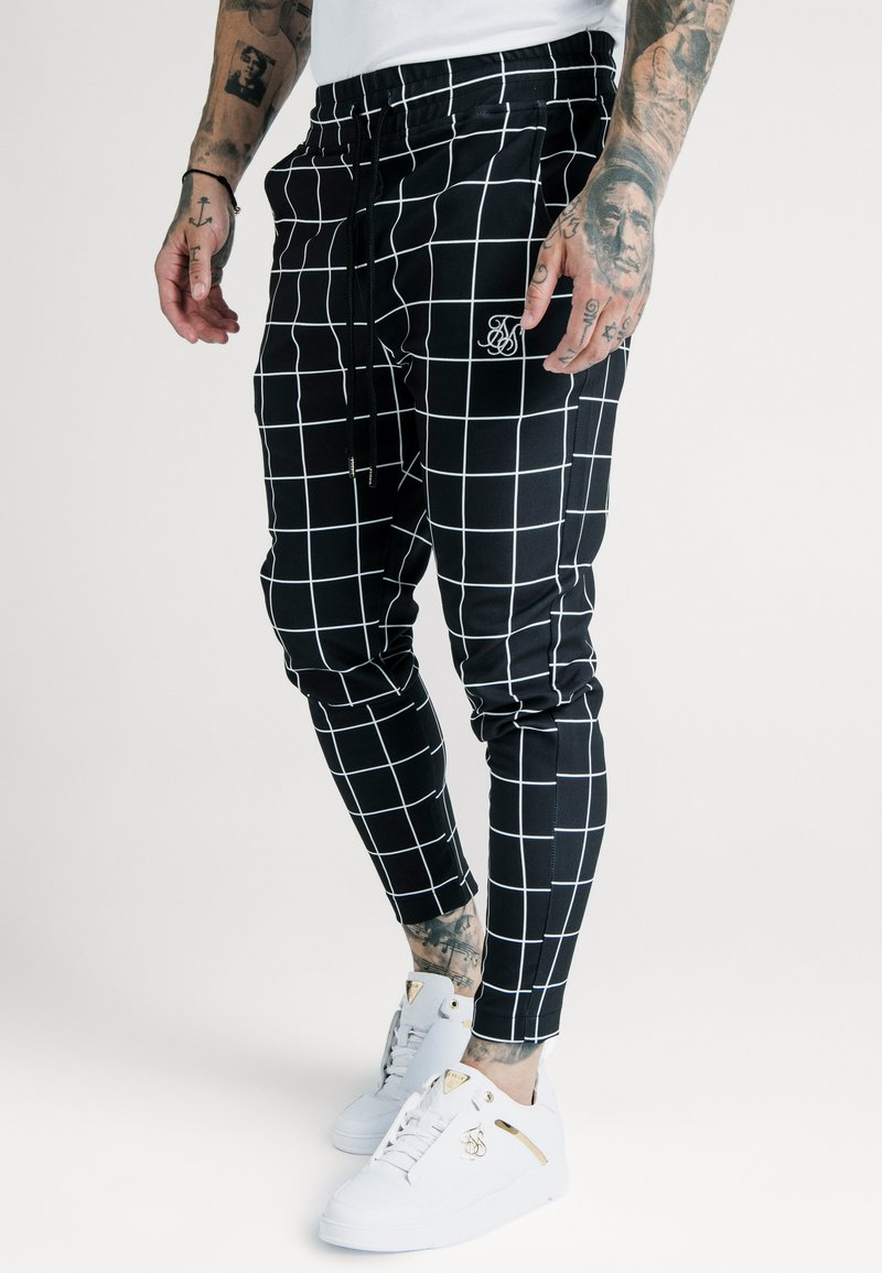 SIKSILK - SMART JOGGER PANT - Pantalon classique - black/white