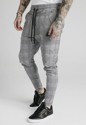 SMART - Tracksuit bottoms - black/grey/white