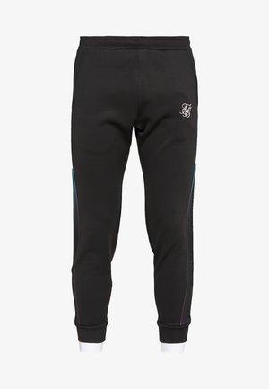 FITTED TAPE TRACK PANTS - Pantaloni sportivi - black/teal