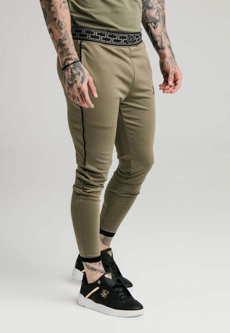 SIKSILK - SCOPE TRACK PANTS - Trainingsbroek - khaki