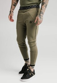 SIKSILK - SCOPE TRACK PANTS - Tracksuit bottoms - khaki - 4