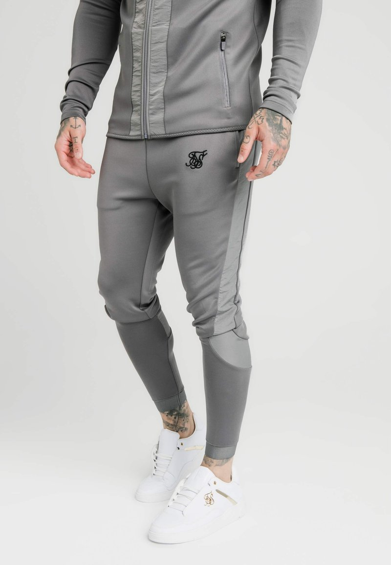 SIKSILK - CREASED PANTS - Tracksuit bottoms - grey