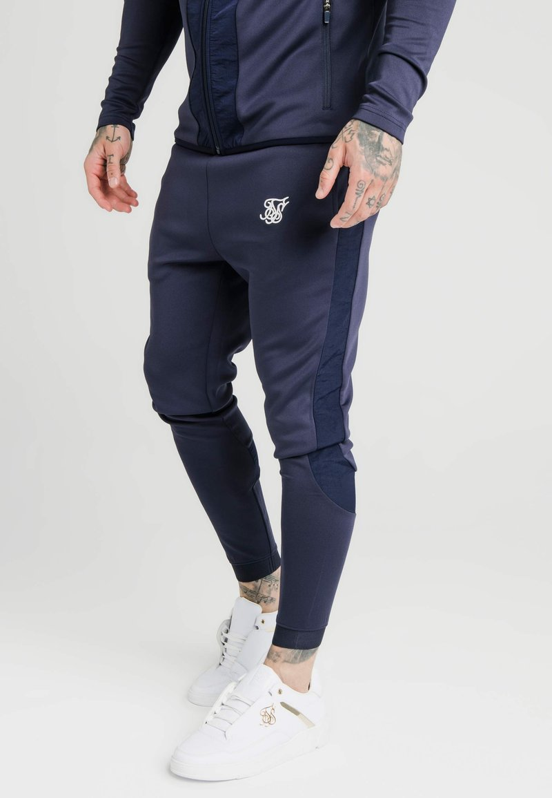 SIKSILK - CREASED PANTS - Trainingsbroek - navy
