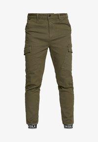 SIKSILK - CUFF PANTS - Cargo trousers - khaki - 3