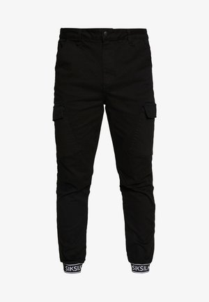 CUFF PANTS - Cargo trousers - black