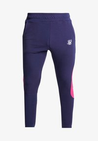 SIKSILK - ATHLETE TECH FADETRACK PANTS - Träningsbyxor - navy/neon fade - 3