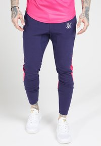 SIKSILK - ATHLETE TECH FADETRACK PANTS - Träningsbyxor - navy/neon fade - 4