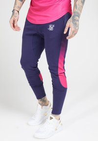 SIKSILK - ATHLETE TECH FADETRACK PANTS - Joggebukse - navy/neon fade - 0