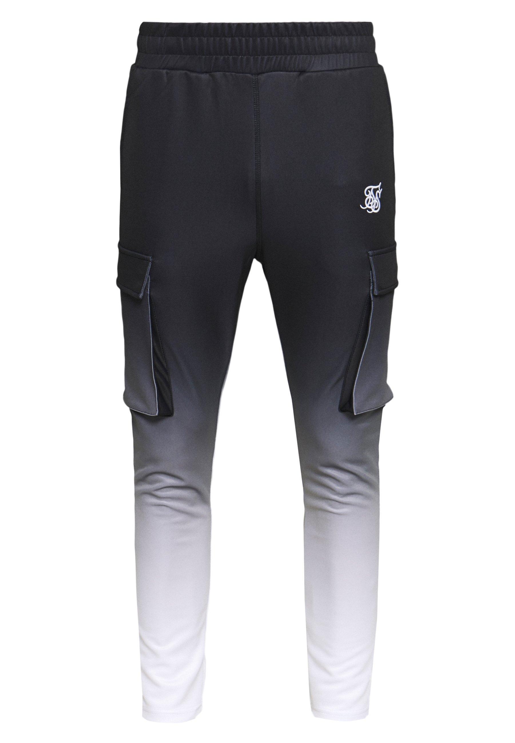 Siksilk Poly Athlete - Cargobyxor Black/white