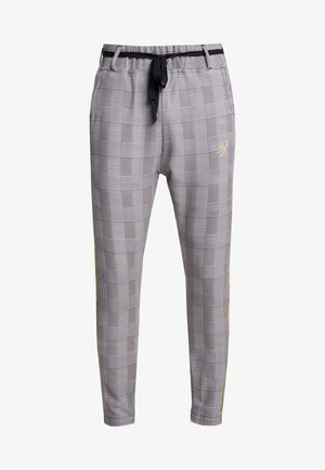FITTED SMART TAPE JOGGER PANT - Trousers - grey/yellow