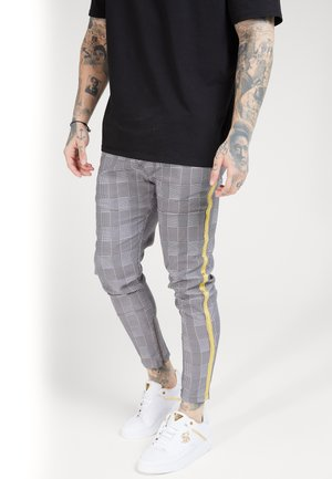 FITTED SMART TAPE JOGGER PANT - Pantalon classique - grey/yellow