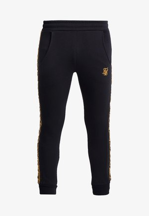 MUSCLE FIT NYLON PANEL JOGGERS - Pantalon de survêtement - black/gold