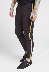 SIKSILK - FITTED SMART TAPE JOGGER PANT - Pantaloni - black - 0