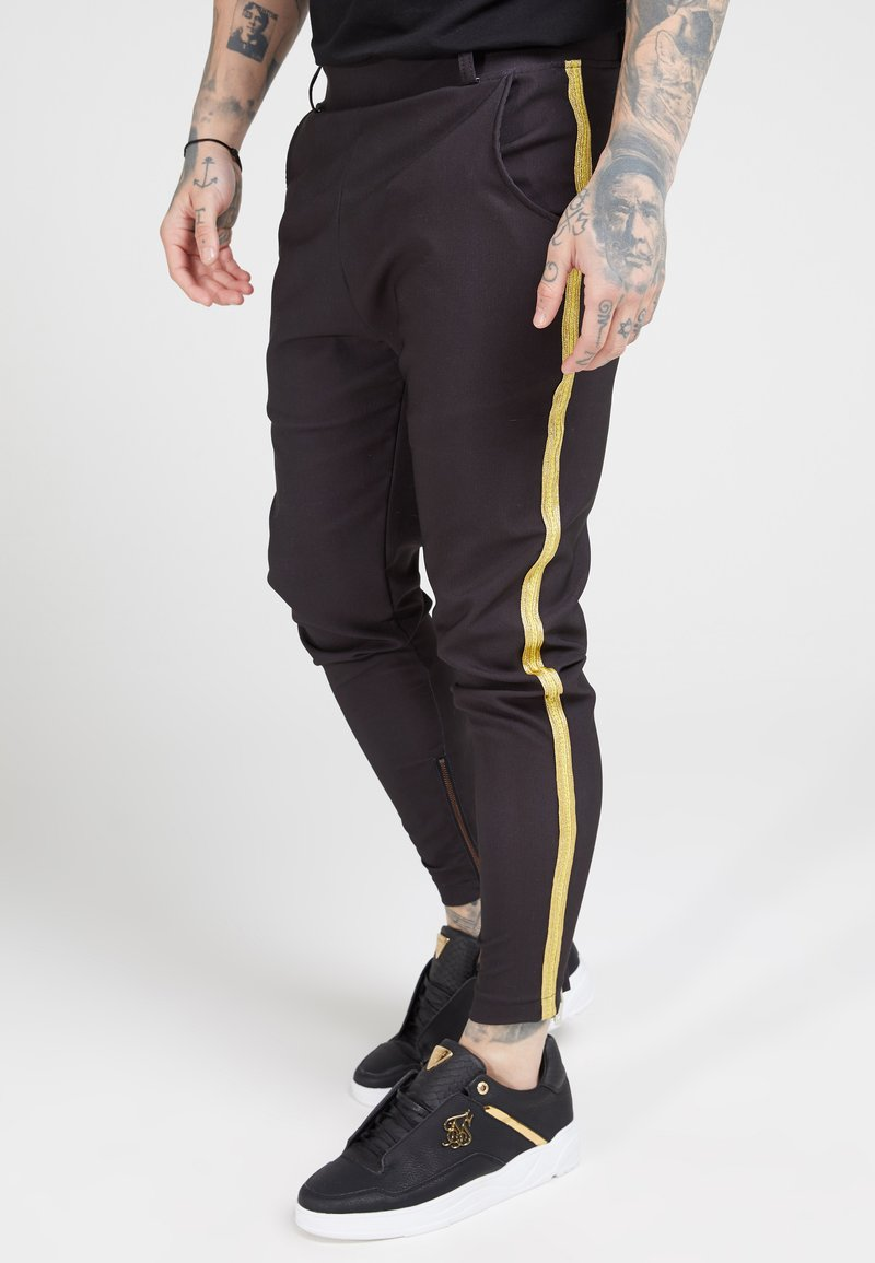 SIKSILK - FITTED SMART TAPE JOGGER PANT - Pantaloni - black