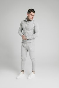 SIKSILK - SMART PLEATED JOGGERS - Tracksuit bottoms - grey marl - 1
