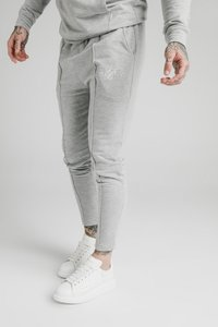 SIKSILK - SMART PLEATED JOGGERS - Tracksuit bottoms - grey marl - 0