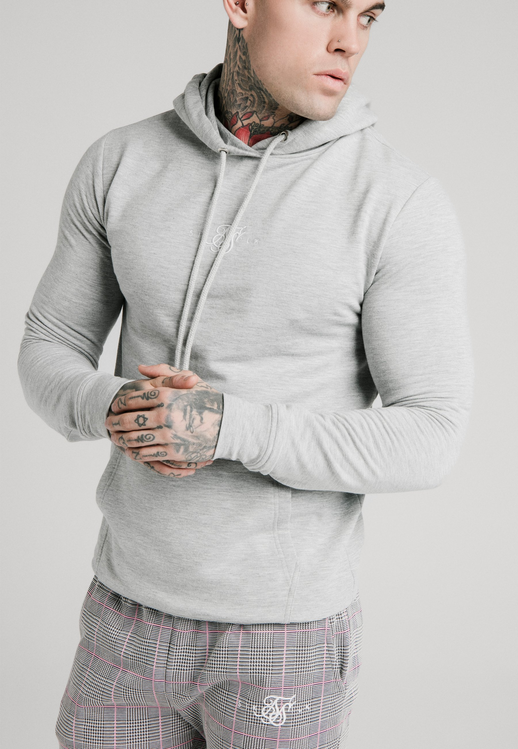 Siksilk Smart Cuff Pants - Pantalon Classique Grey/pink