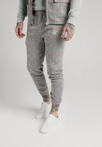 SIKSILK - SMART CUFF PANTS - Broek - grey/pink - 0