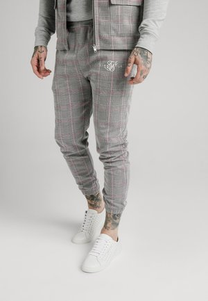 SMART CUFF PANTS - Broek - grey/pink
