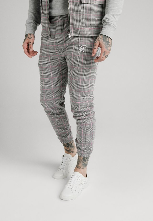 SMART CUFF PANTS - Broek - grey/pink